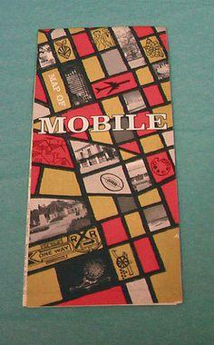 SOLD...Maps 4 Mobile AL Alabama Vintage 70 76 Travel City Street Advertisement County