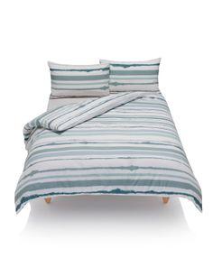 Parure de lit à rayures floues