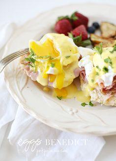 eggs benedict by pink pistachio