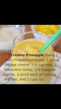 Creamy pineapple