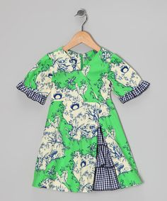 Take a look at this Green Owl Vintage Ruffle Dress - Toddler & Girls by Ruby and Rosie on #zulily today!
