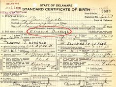 Eleanor Darragh, mother of Ted Cruz, was born in Delaware on Nov. 23, 1934, establishing her citizenship--and, later, his, though he was born in Canada.