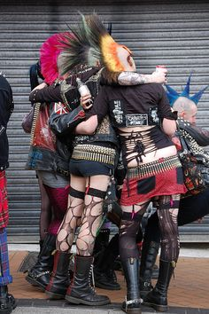 Punk rockers!!! My halloween costume several times!!