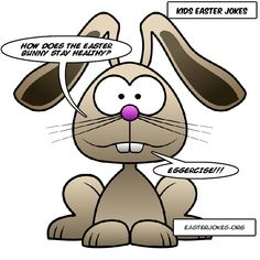 Huge collection of funny Easter Bunny jokes. Easter Bunny jokes and humor for the kids and the whole family. Be entertained with these Easter jokes, riddles. Easter Bunny Jokes, Easter Cartoons, Funny Bunnies, Easter Funny, Rabbit Jokes, Bunny Rabbit, Cartoon Jokes, Funny Jokes, Easter Crafts For Kids