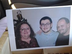 Me, my son Nick & a stranger. Christmas 2013