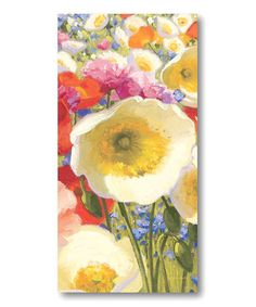 This Meadow Flowers IV Canvas Wall Art is perfect! #zulilyfinds