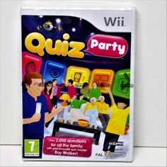 QUIZ PARTY WII GAME OVER 2000 QUESTIONS FAMILY FUN PAL QUIZ MASTER ROY WALKER BN