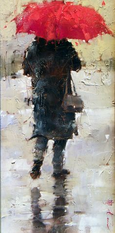 The red umbrella, andre kohn artist