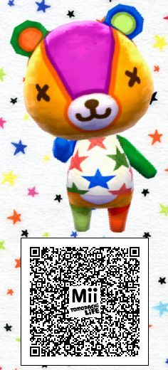 Tomodachi Life Mii Of Stitches From The Animal Crossing Series Tomodachi Life Animal Crossing Qr Codes Animal Crossing Animal Crossing Qr