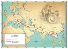 honeymooning by motorcycle map europe india asia