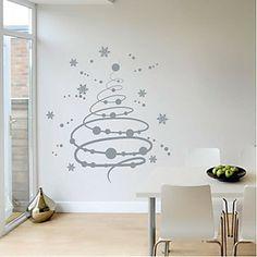 Copos de nieve de la Navidad etiqueta de la pared - EUR € 24.74