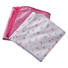 Carter's 2-pk. Stripe and Floral Swaddle Blankets