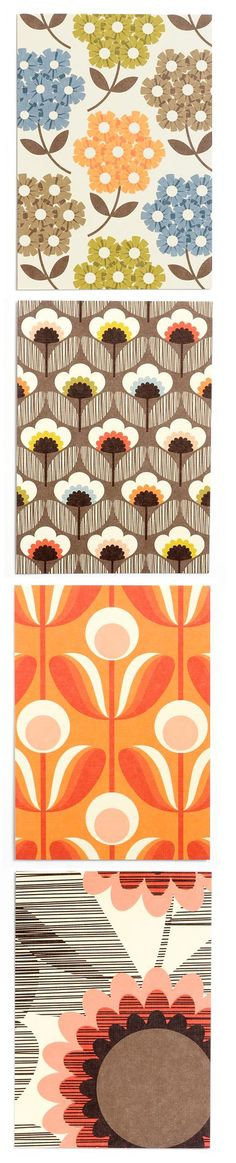 I admire Orla Kiely as a print designer as her bold and simple designs are very effective and can be used for both fashion and interiors Textiles, Textile Prints, Textile Patterns, Graphic Patterns, Cool Patterns, Print Patterns, Retro Pattern, Pattern Art, Pattern Designs