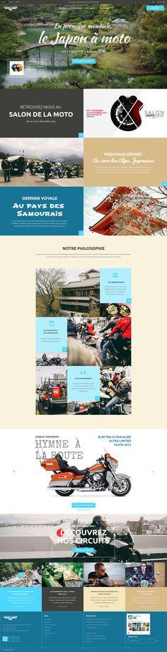 Web design page d'accueil Air Moto Tours - Portfolio de Caroline Constant