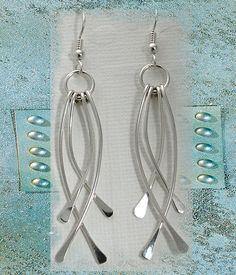 silver earrings, sterling silver earrings, hammered earrings, fine jewelry, eco friendly, classy