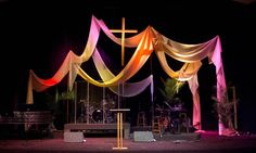 Easter Church Stage Ideas | You can get more pics from Angela Yee on her blog post .