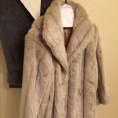 faux fur coat creme faux fur coat. perfect for the winter season and right on trend. brand new never been worn. Jackets & Coats