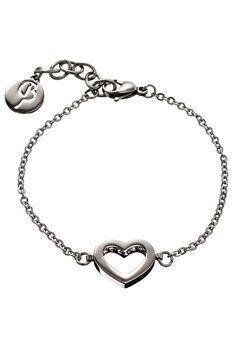 EDBLAD Monaco Heart Bracelet Steel, $64.95  #bijouxcollection #mum #mothersday #mother #gift #present #jewellery #jewelry #bracelet #edblad #heart