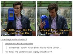 Yet another reason why I love Matt Smith.
