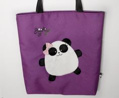 Panda bear bag - Lined Tote Bag  with Panda, Valentine's Gift, 15% OFF,  Tote Bag, Panda, Panda Bear, cute bag, tote bag kawaii,  guyuminos by guyuminos on Etsy Siempre ve con tus amigos a todas partes! ;) ♥ Tote Bag de Pandy! ♥ Disponible en www.guyuminos.etsy.com #bag #totebag #bolsa #guyuminos #Kawaii #panda #cute #regalo #sanvalentin #ofertas #etsy #etsygifts