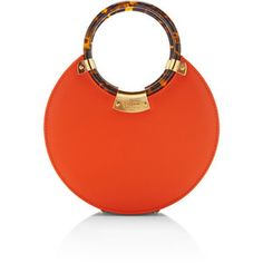 Shop Fairchild Baldwin O Bag In Orange. This item by Fairchild Baldwin features a smooth calf leather in bright orange lined with grey satin with perspex faux tortoise double top handle. Tote Handbags, Purses And Handbags, Leather Handbags, Orange Tote Bags, Orange Purse, Glitter Clutch Bag, Fab Bag, Potli Bags, Accesorios Casual