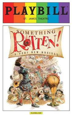 This June 2015 Playbill from the Broadway musical Something Rotten features the famous Playbill logo reimagined as a rainbow in honor of Pride Month. Guaranteed authentic, sealed in a custom fitted vinyl bag, and mailed in protective packaging. Free...
