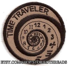 Time Traveler Geek Merit Badge Patch by StoriedThreads on Etsy