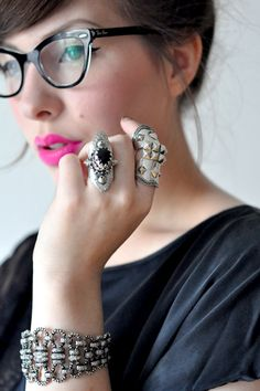 """Young Hearts, Be Free Tonight - Keiko Lynn - Accessories"" #accessorize #accessory #rings"