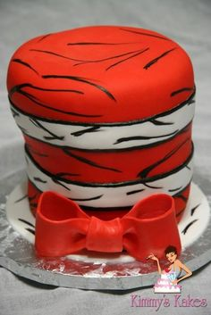 The Cat in the Hat - by Kimmy's Kakes @ CakesDecor.com - cake decorating website