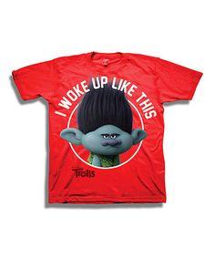 Look at this #zulilyfind! Red Trolls 'I Woke up Like This' Tee - Boys #zulilyfinds