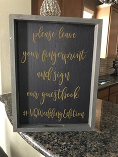 DIY Wedding Sign mad