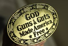 GOD Guns & Guts Made America Free Vintage Belt by theartlyons