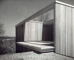 House for Mr. & Mrs. Kenneth Patterson, Ann Arbor, MI. 1956 Robert C.Metcalf