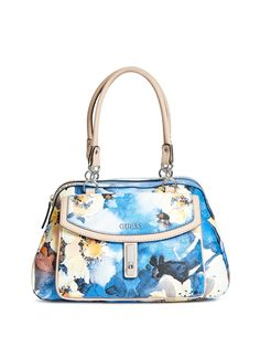 GUESS Womens Kendale Floral Satchel
