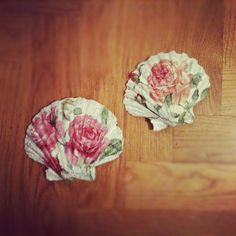 decoupage shells
