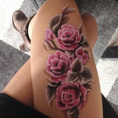Flowers_body painting by Silvia Vitali_www.facepainting.academy