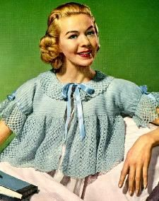 Crochet Bed Jacket pattern from 1956 – would make a really cute sweater too! | Grandmother's Pattern Book