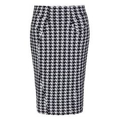 NEW-VINTAGE-50-039-S-STYLE-CHIC-MIRANDA-DOGTOOTH-PENCIL-WIGGLE-PARTY-SKIRT