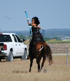 Serena on Diana running the Comanche Course during the Texas Open