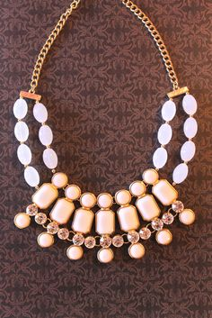{White & Ivory} Statement Necklace