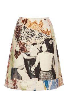 Shop Printed Wool Canvas Skirt by Carven - Moda Operandi