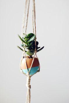 How-To: Mini Hanging Macrame Garden