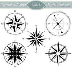 Compass Clipart Vector Compass Clip Art Steampunk by skaior