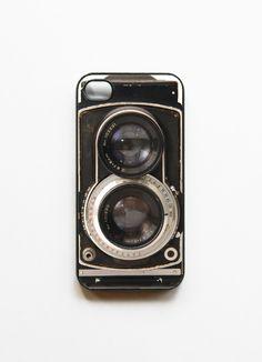 iPhone 4 Case Retro Twin Reflex Camera -