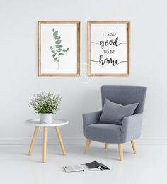 Perfect & simply entryway or living room decor! It's so good to be home Farmhouse Wall Art, Living Room Art, Room Set, Home Accessories, Diy Home Decor, Bedroom Decor, Decoration, Minimalist Living, Pin Image