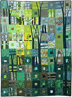 Green Venus by Helen Howes Quilt Fest 2015 Contemporary Quilt UK Batik Quilts, Scrappy Quilts, Mini Quilts, Rag Quilt, Quilting Projects, Quilting Designs, Art Quilting, Patchwork Designs, Quilting Tips