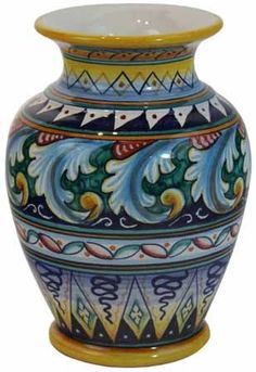 kitchen decoration – Home Decorating Ideas Kitchen and room Designs Hand Painted Ceramics, Porcelain Ceramics, Ceramic Vase, Ceramic Pottery, Pottery Art, Fine Porcelain, Vases, Pottery Painting Designs, Italian Pottery
