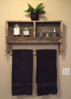 Off Bathroom Decor Rustic Wood Pallet Furniture Outdoor Furniture Double Tow. CLICK Image for full details Off Bathroom Decor Rustic Wood Pallet Furniture Outdoor Furniture Double Towel Rack Bathroom Shelf Rusti. Pallet Crafts, Diy Pallet Projects, Home Projects, Woodworking Projects, Woodworking Plans, Diy Crafts, Barn Board Projects, Woodworking Magazines, Sketchup Woodworking