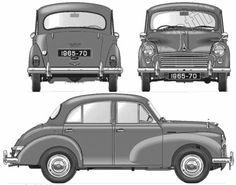 Blueprints > Cars > Morris > Morris Minor 1000 Million Morris Minor, Antique Trucks, Antique Cars, Classic European Cars, Automobile, Car Prints, Wooden Toy Cars, Small Cars, Vintage Cars
