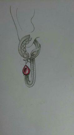 15 Earrings Jewelry Pencil Drawing Ideas - New India Jewelry, Jewelry Art, Fashion Jewelry, Ethnic Jewelry, Men's Fashion, Jewelry Design Drawing, Septum Jewelry, Jewelry Illustration, Jewellery Sketches